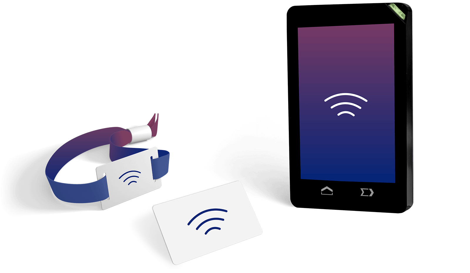 RFID wristband, card and reader