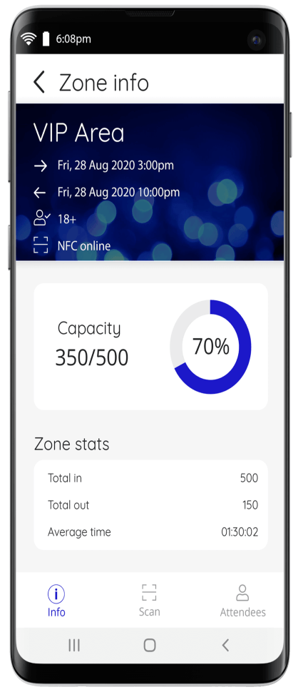 Manage event entry with the Nutickets event check in apps.